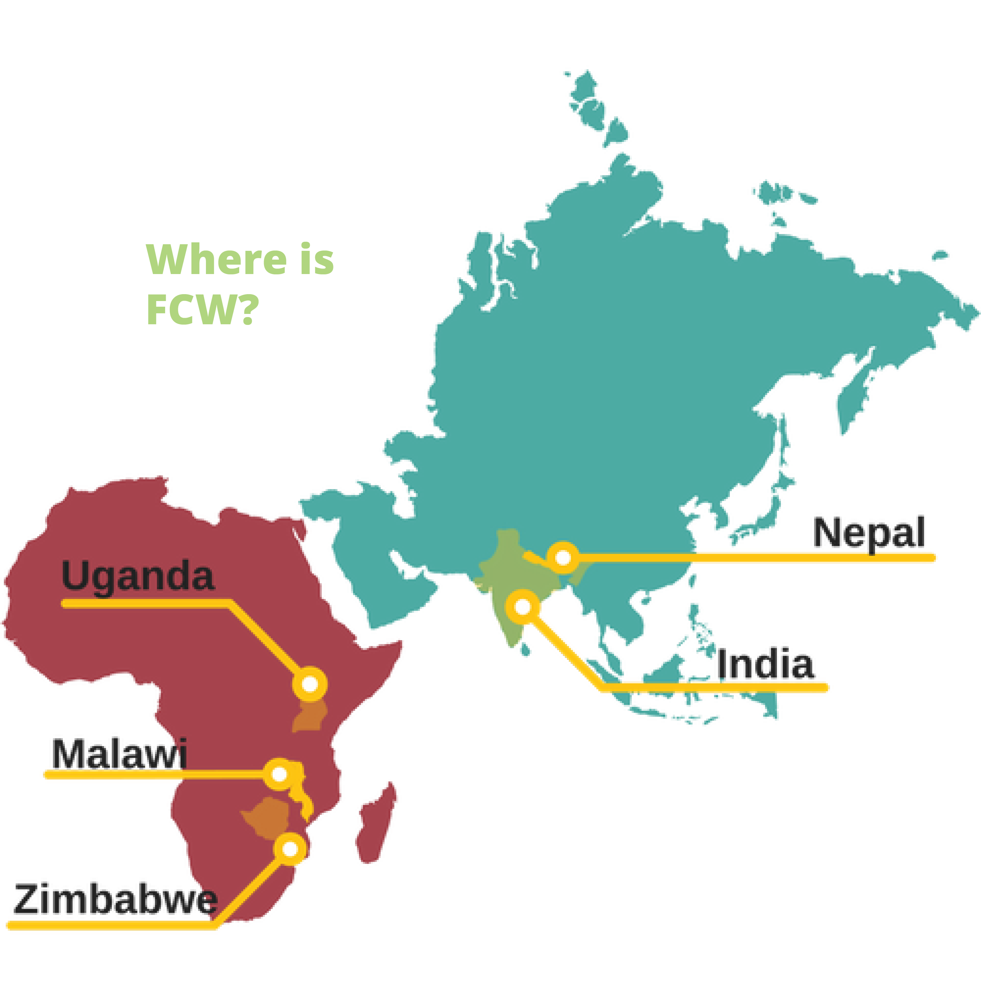 Map of FCW locations